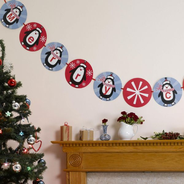 Party Penguin Christmas Bunting